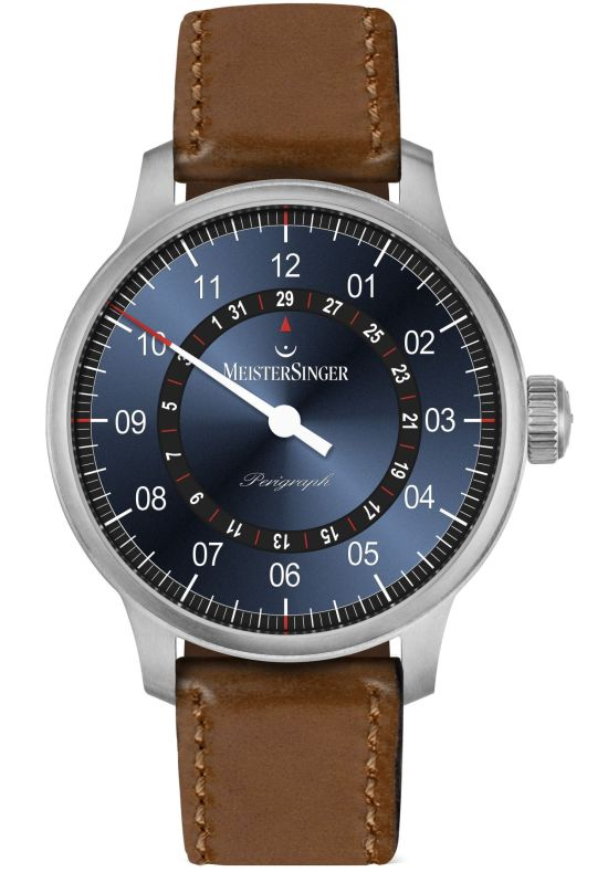 MeisterSinger Perigraph New Models 2020 blue dial with black date ring