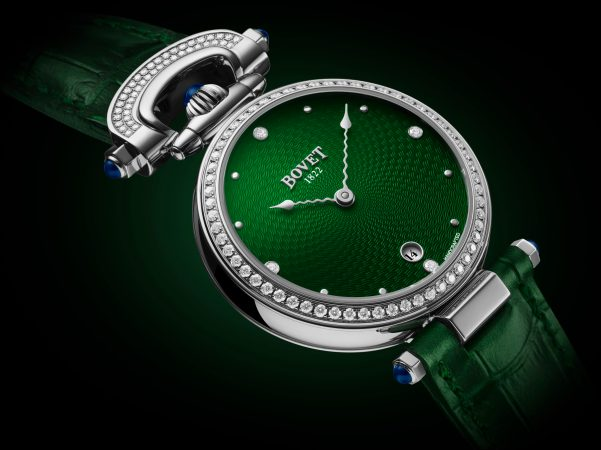BOVET 1822 Miss Audrey with Green Guilloche Dial
