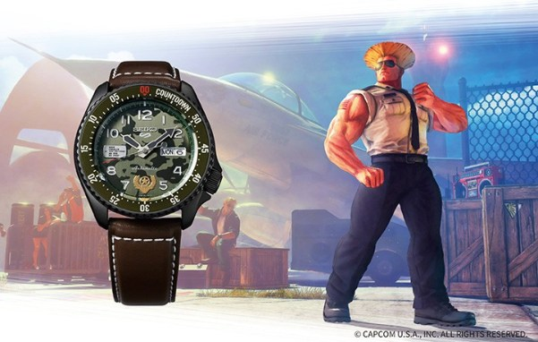 Seiko 5 Sports STREET FIGHTER V GUILE (SRPF21)