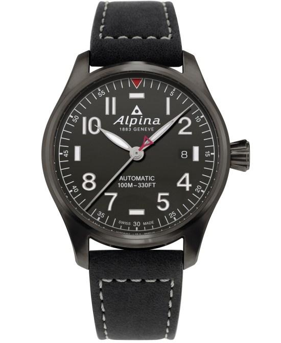 Alpina Startimer Pilot Automatic 40 mm AL-525G3TS6 dark grey dial