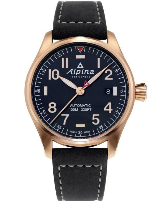 Alpina Startimer Pilot Automatic 40 mm AL-525NN3S4 navy blue dial