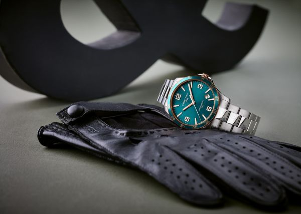 Certina DS-8 Turquoise-green dial, stainless steel case and bracelet