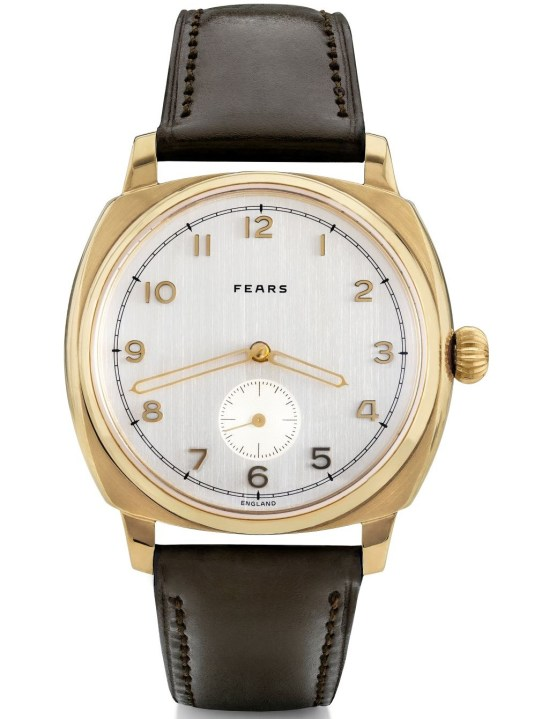 Fears Brunswick Midas - Brilliant Silver dial on a Chocolate Brown Bristol Leather strap