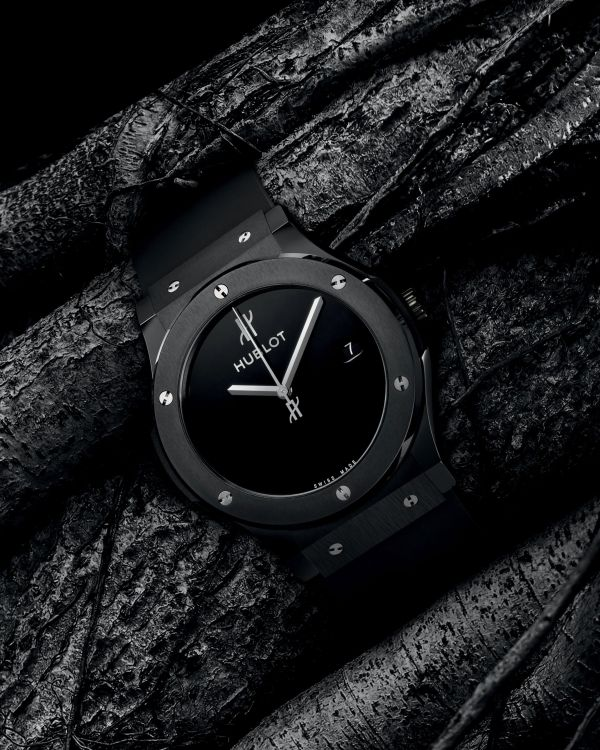 Hublot Classic Fusion 40 Years Anniversary Limited Edition watch with Satin-finished and Polished Black Ceramic case