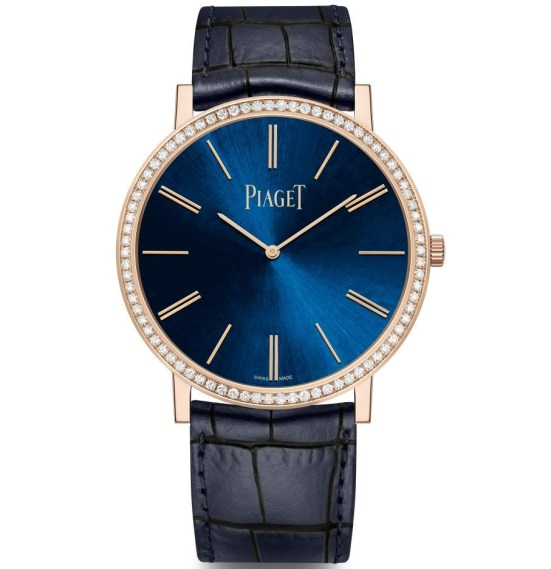 Piaget New Altiplano Limited Editions with Blue Dial and diamond set rose gold case