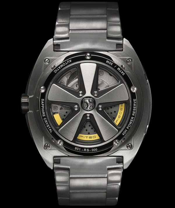 REC Watches 901 RS Limited Edition case back view