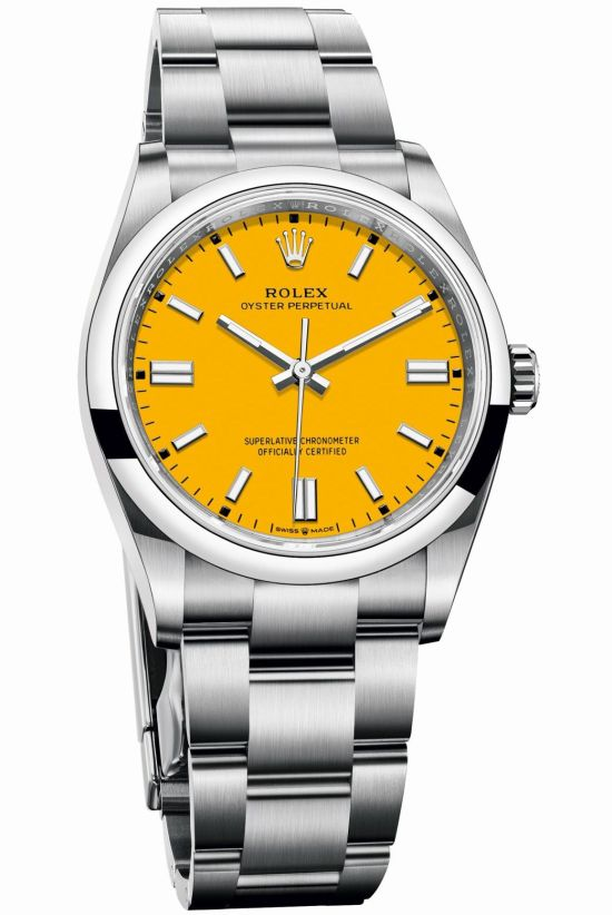 Rolex Oyster Perpetual 36 with Yellow lacquer dial
