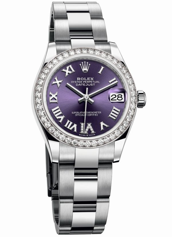 Rolex Oyster Perpetual Datejust 31 with Aubergine dial