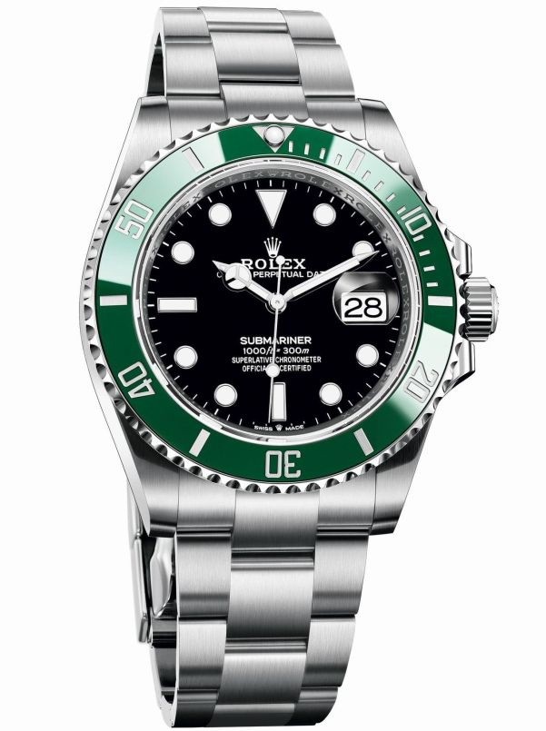 Rolex Oyster Perpetual Submariner Date in Oystersteel with a Green Cerachrom bezel and a black dial, 41mm, Reference 126610LV