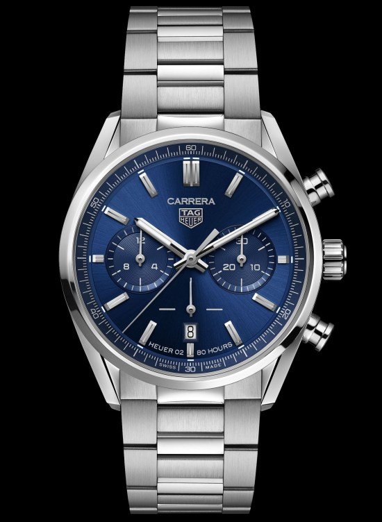 TAG Heuer Carrera Chronograph 42 mm Calibre Heuer 02 Automatic (Blue sunray brushed dial), Reference CBN2011.BA0642