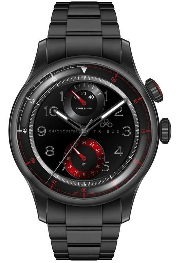 TRIBUS TRI-04 Power Reserve GMT Sport COSC