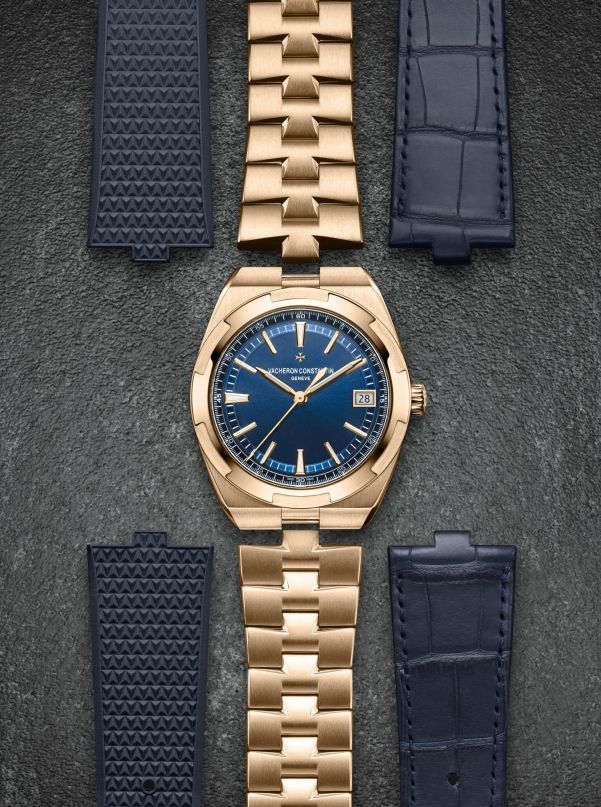 Vacheron Constantin Overseas Self-winding 41mm Pink Gold Version with Translucent Blue Lacquered Dial