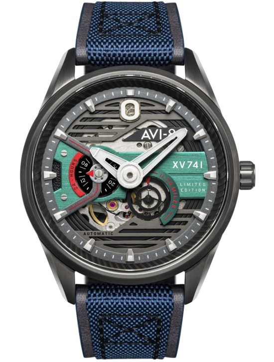 AVI-8 Hawker Harrier XV741 Blue Nylon Automatic Limited Edition (AV-4074-XV741)