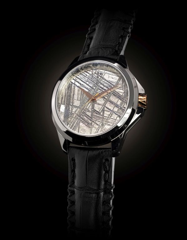 ArtyA Son of Earth METE-ORA: Automatic Watch with a Dial Made Of a Natural Muonionalusta Meteorite