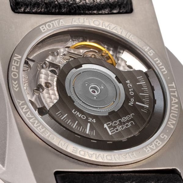 BOTTA Design UNO 24 Automatic watch caseback view