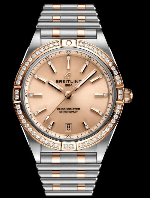Breitling chronomat-automatic-36-in-bicolor-with-diamond-hour-markers-and-diamond-set-bezel_ref.-u10380591k1u1