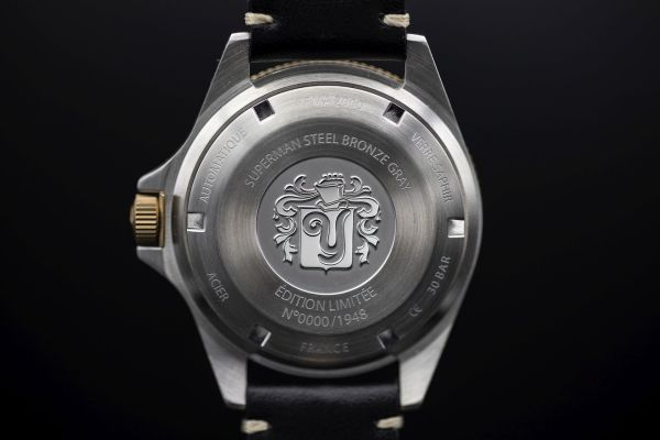 Caseback Superman Steel Bronze Gray