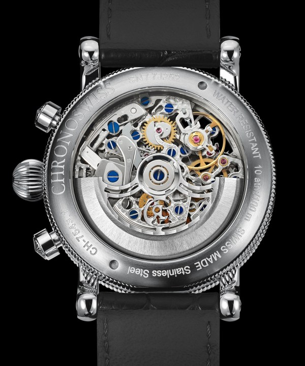 Chronoswiss Opus Chronograph New Edition case back view