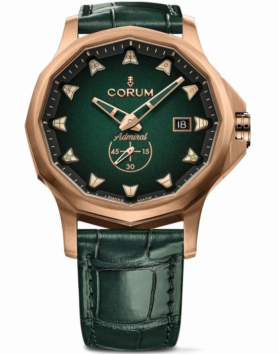 Corum Admiral 42 Bronze watch new model 2020 with green dial