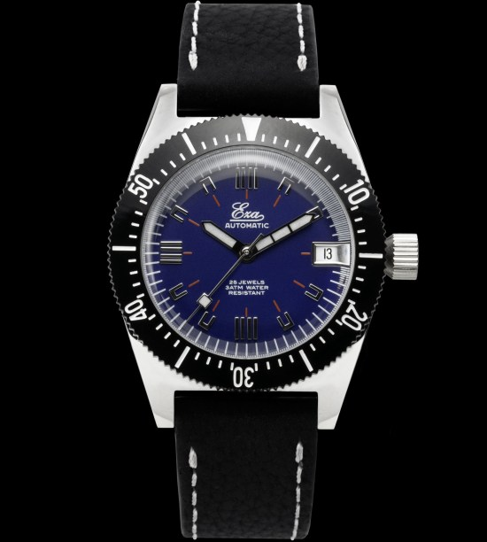 "Eza Watches ""1972"" automatic limited edition 36mm version blue dial"