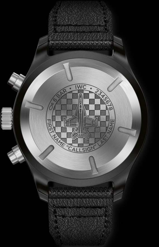 "IWC Pilot's Watch Chronograph Edition ""Fighting Checkmates"" (Ref. IW389012) caseback"