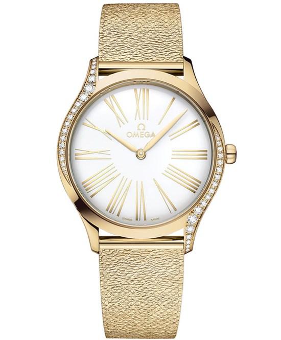 OMEGA New Trésor Gold Models with Mesh Bracelet