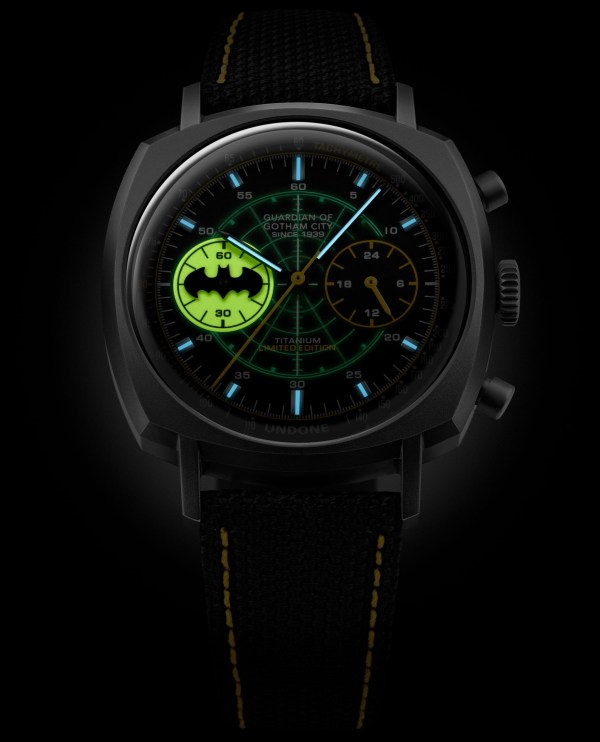 UNDONE x Batman 80th Anniversary Collection The Caped Crusader lume shot