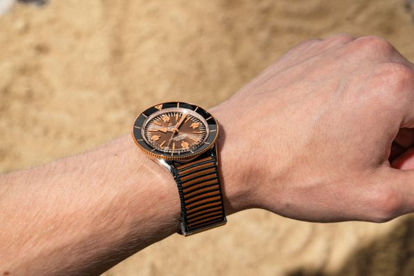 Breitling Superocean Heritage '57 Outerknown watch hands on