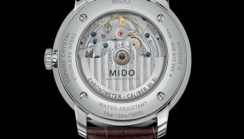 Mido Baroncelli Caliber 80 Chronometer Silicon, M027.408.16.061.00 (Stainless steel case, Anthracite dial and Brown leather strap) caseback