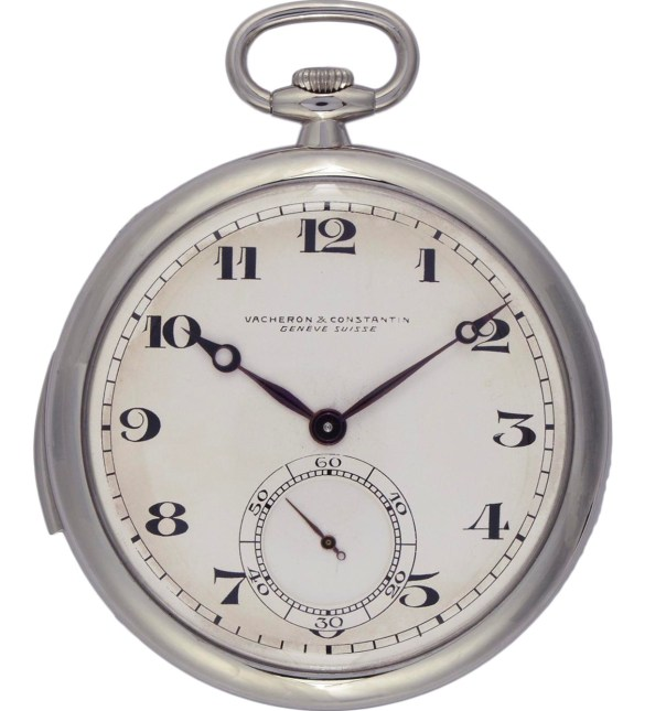 Vacheron Constantin Platinum open-face ultra-thin minute-repeater pocket watch – 1928