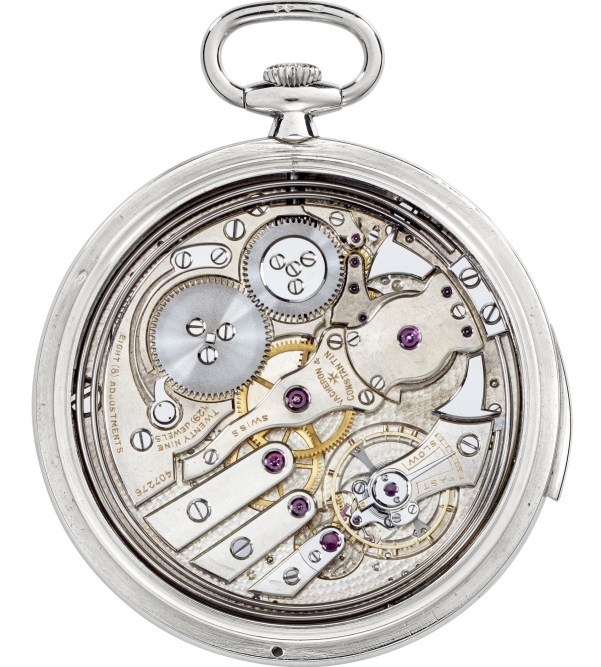 Vacheron & Constantin Platinum open-face ultra-thin minute-repeater pocket watch – 1928
