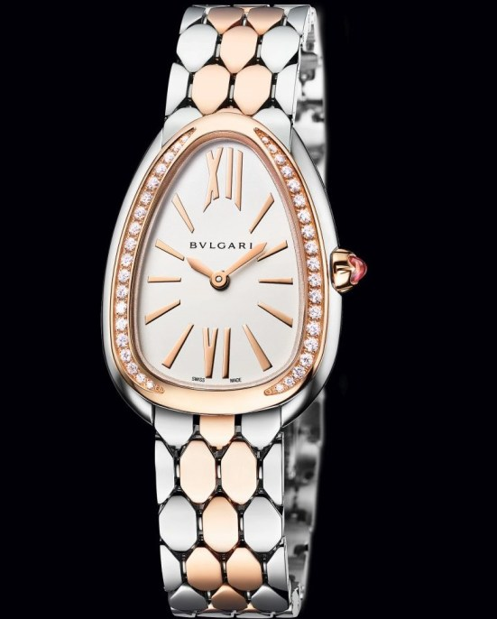 Bvlgari Serpenti Seduttori Steel and Rose Gold with Diamonds, Reference 103274