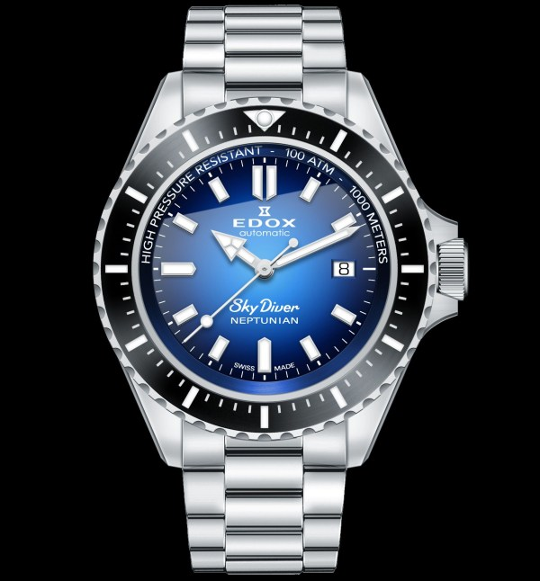 Edox Skydiver Neptunian Automatic diving watch 1000 meters