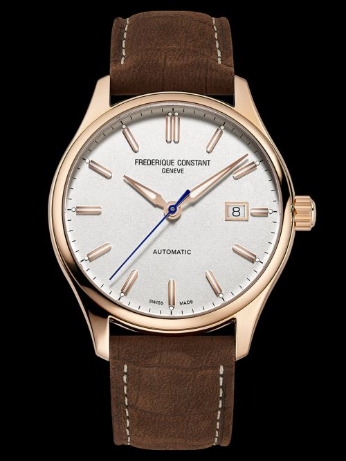 Frederique Constant Classics Index Automatic watch Silver dial gold plated case Reference FC-303NV5B4