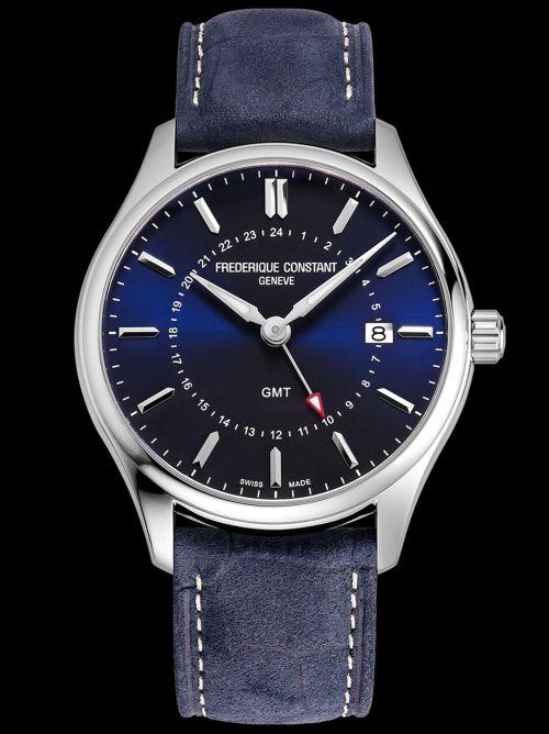 Frederique Constant Classics Quartz GMT watch Navy Blue dial Reference FC-252NS5B6