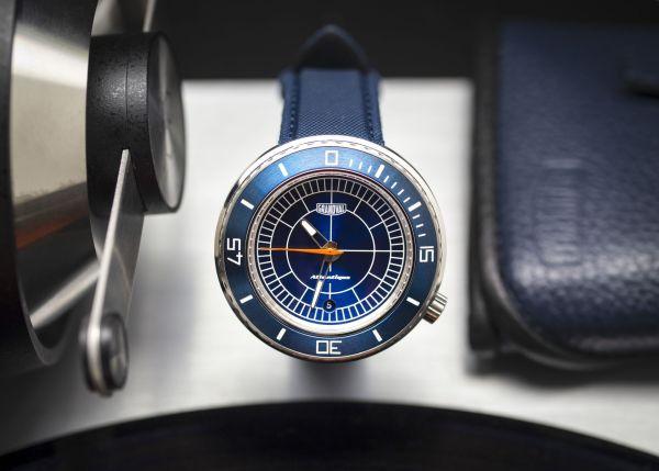Grandval Atlantique Dive Watch with Sector Blue Dial