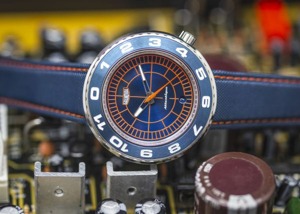 Grandval Atlantique Dual Time Watch with Sector Blue Dial