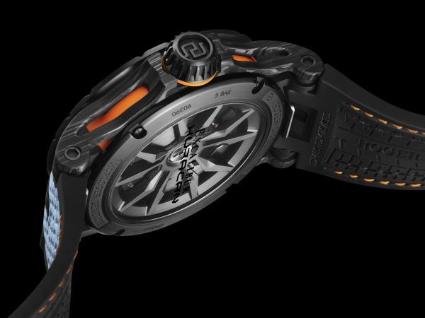Roger Dubuis Excalibur Huracán STO Limited Edition watch caseback