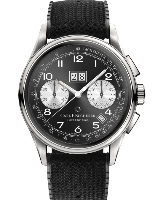 Carl F. Bucherer Heritage BiCompax Annual Limited Edition, New Model with Reversed Panda Dial