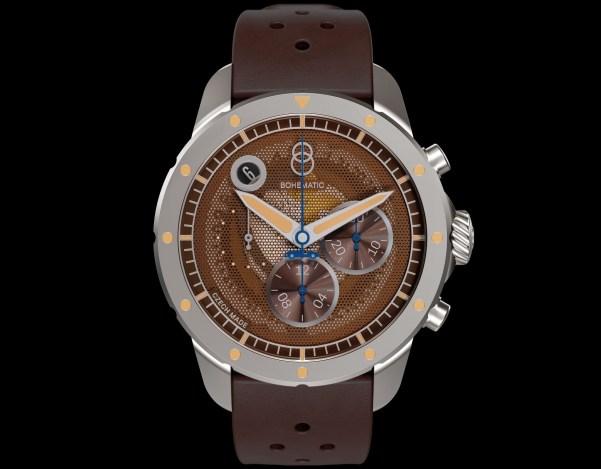 BOHEMATIC AERO MINOR automatic chronograph made in Czech republic