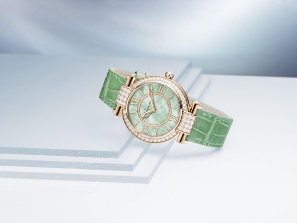 Chopard IMPERIALE watch (with ethical 18-carat rose gold case and Green textured mother-of-pearl dial)
