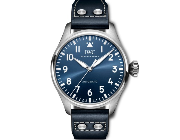 IWC Schaffhausen Big Pilot's Watch 43Ref. IW329303: Stainless steel case, blue dial, rhodium-plated hands, blue calf leather strap.