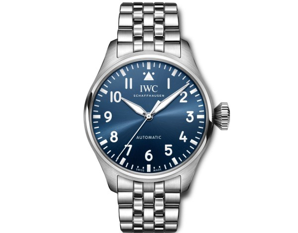 IWC Schaffhausen Big Pilot's Watch 43Ref. IW329304: Stainless steel case, blue dial, rhodium-plated hands, stainless steel bracelet.