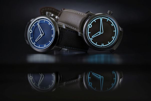 MING 17.09 blue and burgundy dial watches