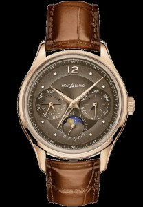 "Montblanc Manufacture Perpetual Calendar Limited Edition 100, Reference 128669 (with 18 carat rose gold case and ""burnt caramel""-coloured dial)"