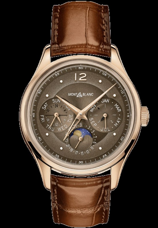 """Montblanc Manufacture Perpetual Calendar Limited Edition 100, Reference 128669 (with 18 carat rose gold case and """"burnt caramel""""-coloured dial)"""