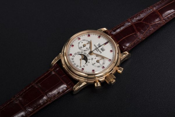 Patek Philippe Perpetual Calendar Split-Seconds Chronograph with ruby hour-markers, Ref. 5004R