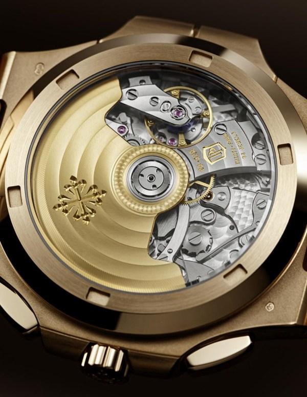 Patek Philippe Ref. 5990-1R-001 Nautilus Travel Time Chronograph (rose gold version with a blue sunburst dial)