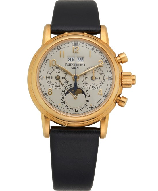 Patek Philippe Split-Seconds Perpetual Calendar Chronograph in Yellow Gold, Ref.5004J