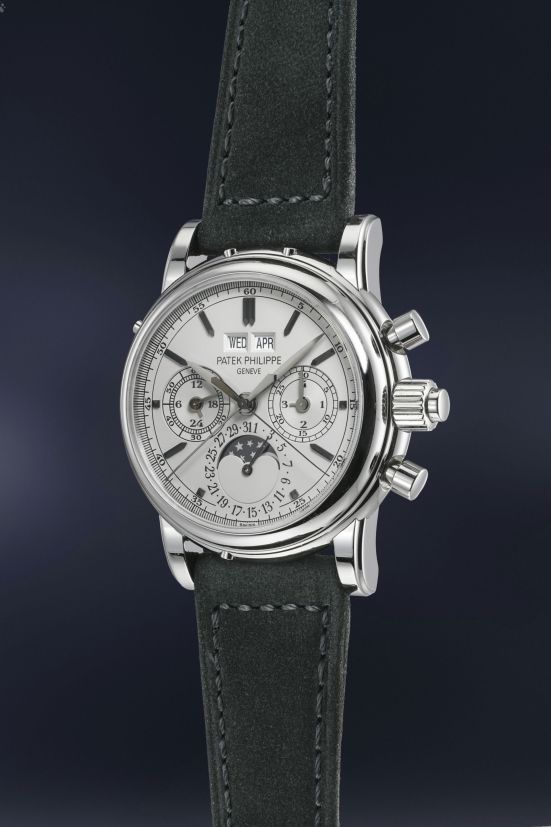 Patek Philippe Stainless Steel Split Seconds Perpetual Calendar Chronograph, Reference 5004